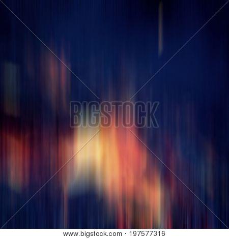 Vertical color lines blurred dark background blue