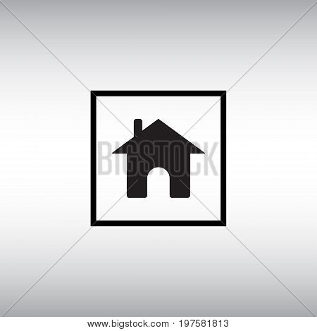 Home flat vector sign. Isolated homepage vector icon. Homepage square button vector image.