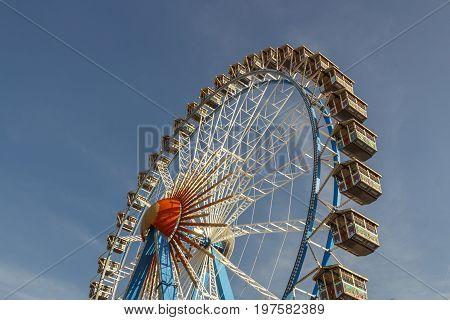 Ferris wheel on the fairground of the Octoberfest in Munich