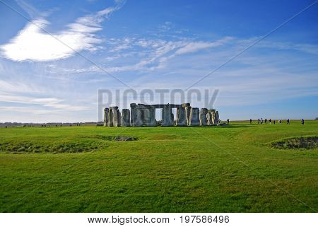 Stonehenge - one of the wonders of the world and the best-known prehistoric monument in Europe