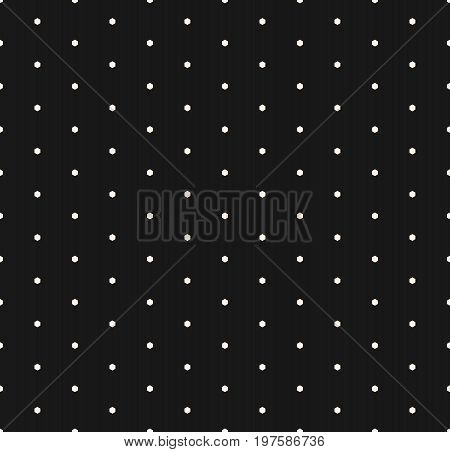 Minimalist seamless pattern with small hexagons. Vector monochrome geometric texture, abstract repeat background with small hex shapes, speckled surface. Dark design element for prints, decor, textile.