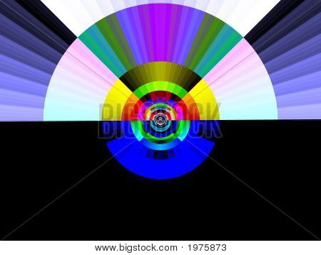 Pop Art Rainbow At Dawn
