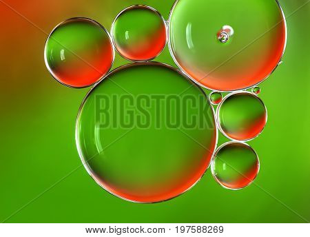 Water bubbles abstract background, water drops macro.