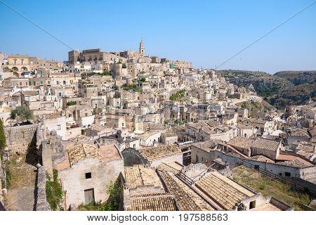 Sasso Barisano district in the Sassi of Matera Basilicata Italy