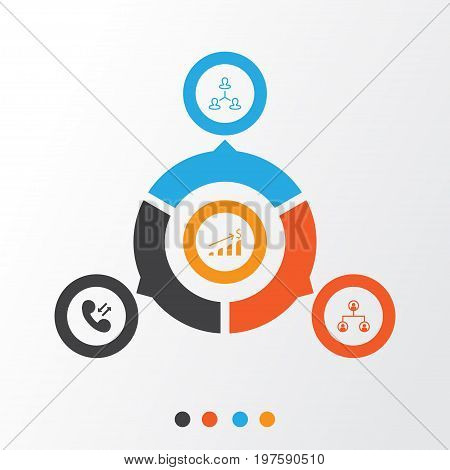 Human Icons Set. Collection Of Partnership, Call, Increase And Other Elements