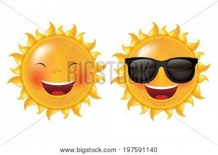 Yellow Cartoon Sun