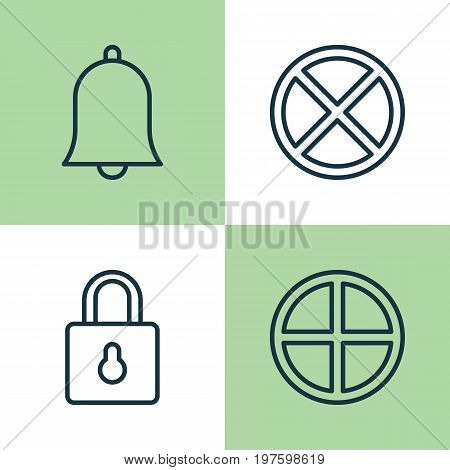 Web Icons Set. Collection Of Exit, Positive, Bell And Other Elements