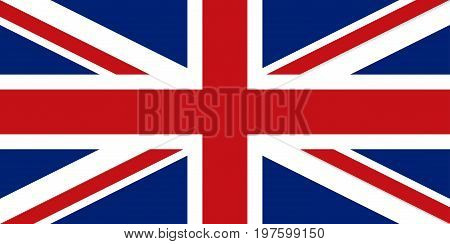 Flag design. English flag on the white background isolated flat layout for your designs. Vector illustration.