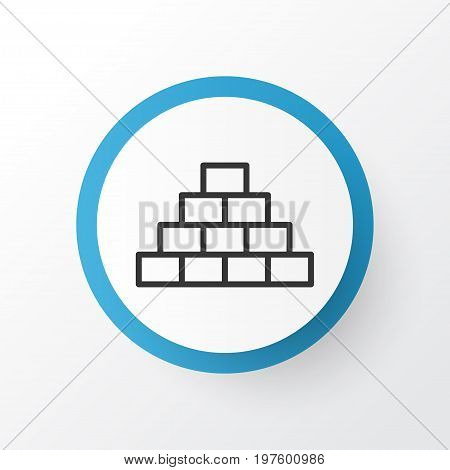 Premium Quality Isolated Structure Element In Trendy Style.  Pyramid Icon Symbol.