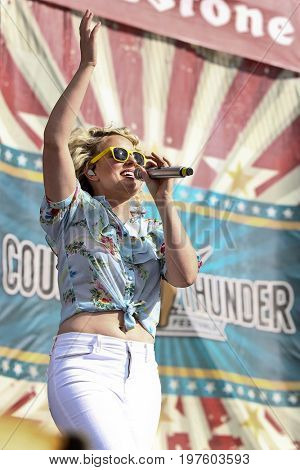 TWIN LAKES, WI - JUL 22: Cam performs during 2017 Country Thunder Music Festival on July 22, 2017 in Twin Lakes, Wisconsin.