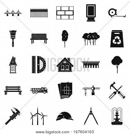 Composition icons set. Simple set of 25 composition vector icons for web isolated on white background