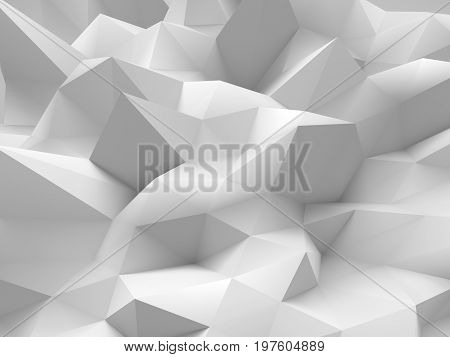 Abstract white 3d background with polygonal pattern