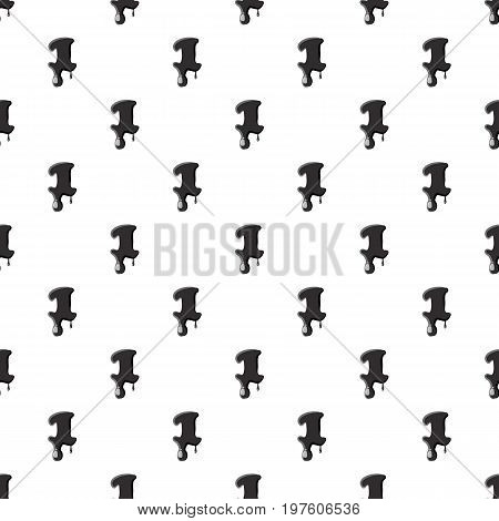 Number one 1 isolated on white background. Black liquid oil one 1 number vector illustration