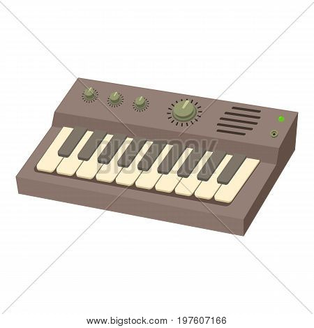 Synthesizer icon. cartoon illustration of synthesizer vector icon for web
