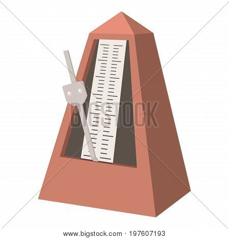 Metronome icon. cartoon illustration of metronome vector icon for web