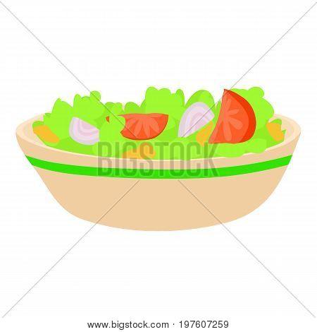 Salad icon. cartoon illustration of salad vector icon for web