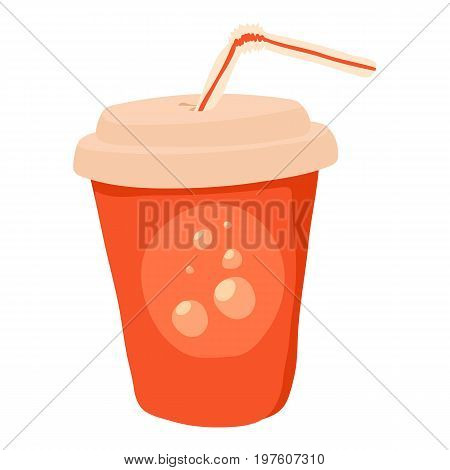 Soda icon. cartoon illustration of soda vector icon for web