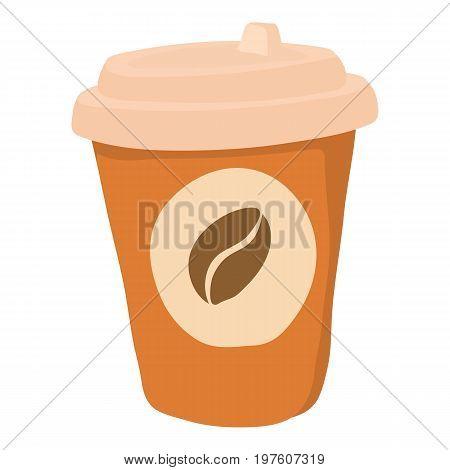 Coffe icon. cartoon illustration of coffe vector icon for web