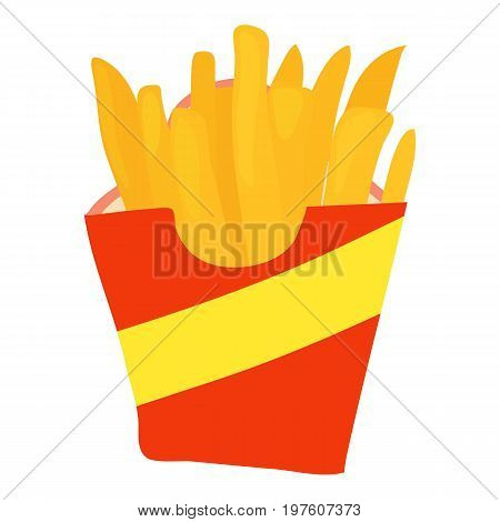 French fries icon. cartoon illustration of french fries vector icon for web