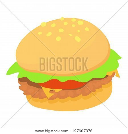 Burger icon. cartoon illustration of burger vector icon for web