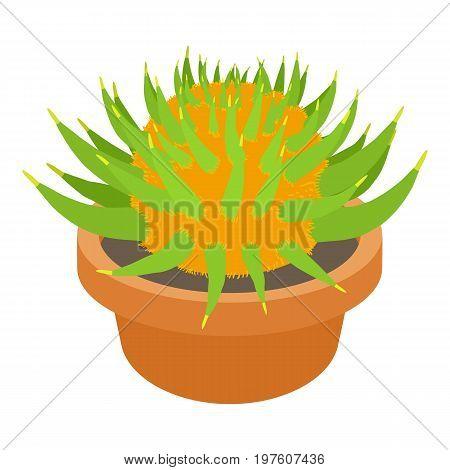 Prickly cactus icon. cartoon illustration of prickly cactus vector icon for web