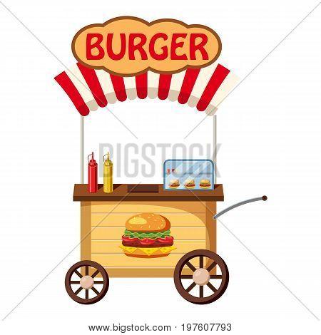 Burger mobile snack icon. cartoon illustration of burger mobile snack vector icon for web