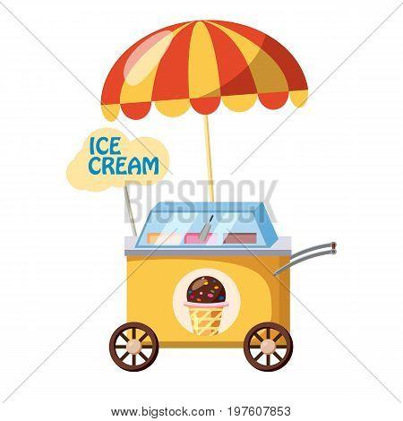 Ice cream mobile snack icon. cartoon illustration of ice cream mobile snack vector icon for web