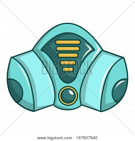 Gas mask icon. Cartoon illustration of gas mask vector icon for web design