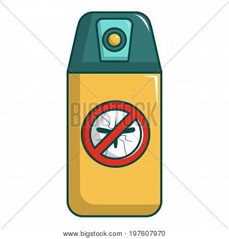 Spray no mosquito icon. Cartoon illustration of spray no mosquito vector icon for web design