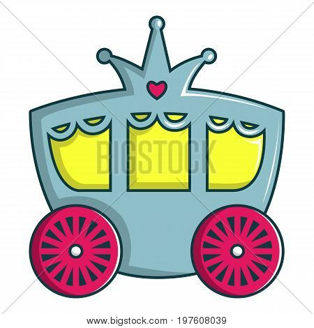 Princess carriage icon. Cartoon illustration of princess carriage vector icon for web design