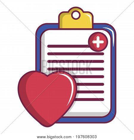 Medical health card icon. Cartoon illustration of medical health card vector icon for web design