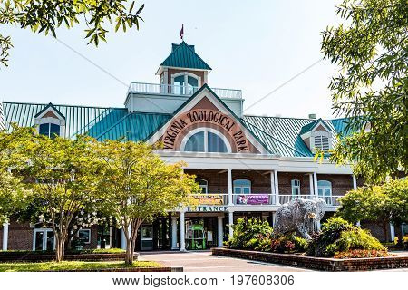 NORFOLK, Virginia - JULY 13, 2017:  The Virginia Zoological Park, originally opened in 1900 and now containing over 500 animals on 53 acres of property.