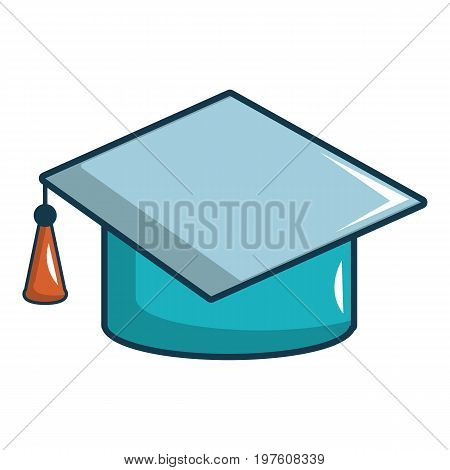 Graduation hat icon. Cartoon illustration of graduation hat vector icon for web design