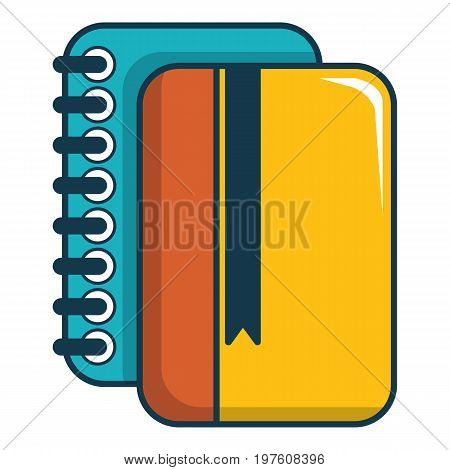 Copybook icon. Cartoon illustration of copybook vector icon for web design