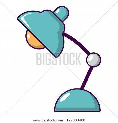 Desk lamp icon. Cartoon illustration of desk lamp vector icon for web design