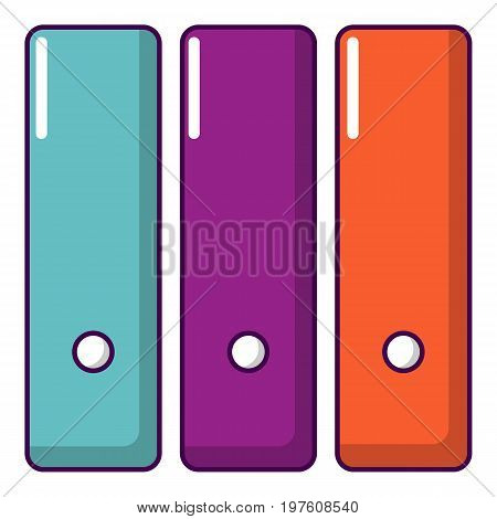 Office folder icon. Cartoon illustration of office folder vector icon for web design