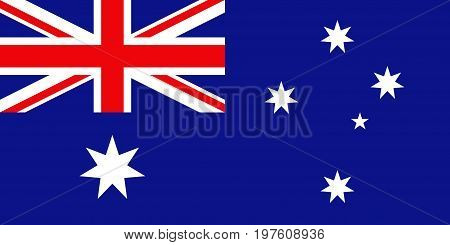 Flag design. Australian flag on the white background isolated flat layout for your designs. Vector illustration.