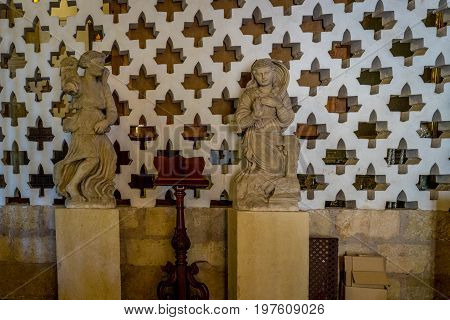 Statues Inside The Mosque Cathedral Of Cordoba, Spain, Europe