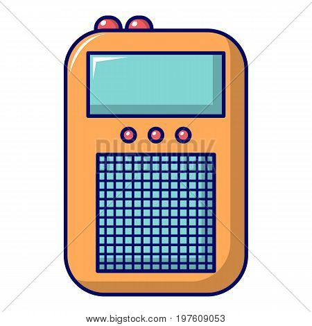Portable radio icon. Cartoon illustration of portable radio vector icon for web design