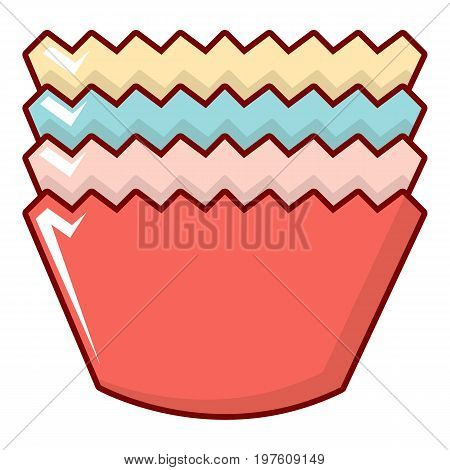 Baking molds icon. Cartoon illustration of baking molds vector icon for web design
