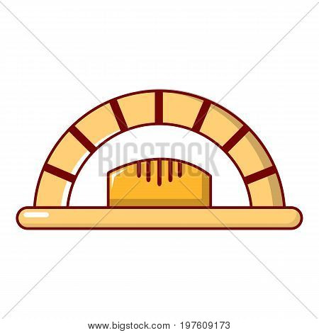 Bread oven icon. Cartoon illustration of bread oven vector icon for web design