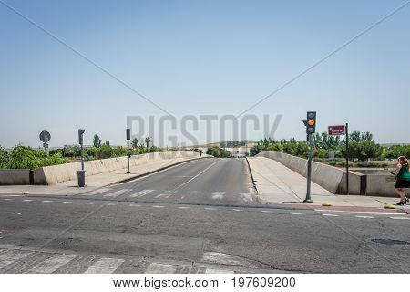 Entrance To Puente De Miraflores In Cordoba, Spain, Europe