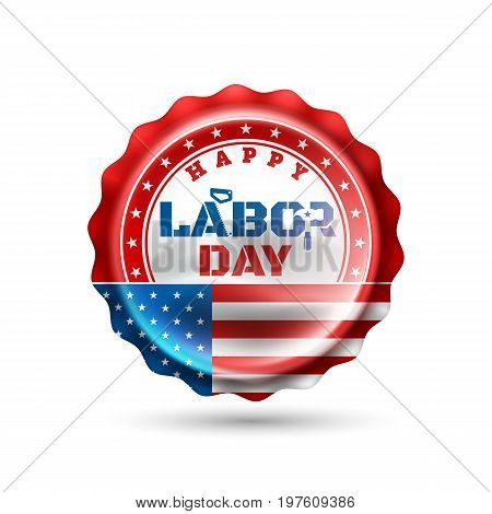Happy Labor Day.America labor day for Greeting Card.Typography Labor Day Labels or Badges Design.Labor Day Labels or Badges Template.Vector illustration