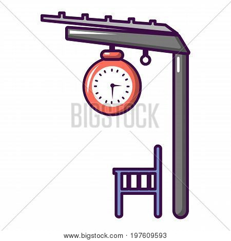 Platform railway icon. Cartoon illustration of platform railway vector icon for web design