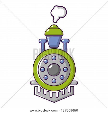 Locomotive icon. Cartoon illustration of locomotive vector icon for web design
