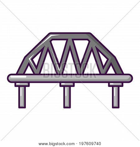Arched train bridge icon. Cartoon illustration of arched train bridge vector icon for web design