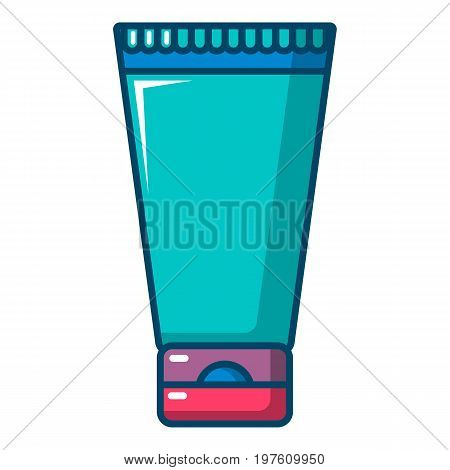 Creme tube icon. Cartoon illustration of creme tube vector icon for web design