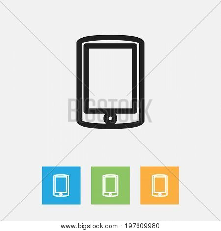 Vector Illustration Of Trade Symbol On Cellphone Outline