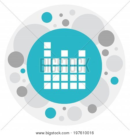 Vector Illustration Of Mp3 Symbol On Frequency Icon