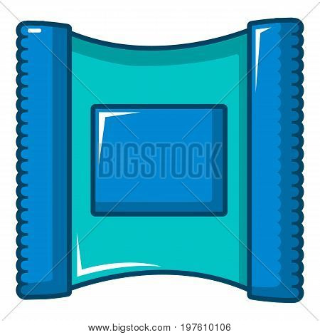 Wet wipes package icon. Cartoon illustration of wet wipes package vector icon for web design